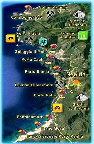 Cartina Archeologica Sardegna.Siti Storico Archeologici Nella Sardegna Sud Occidentale
